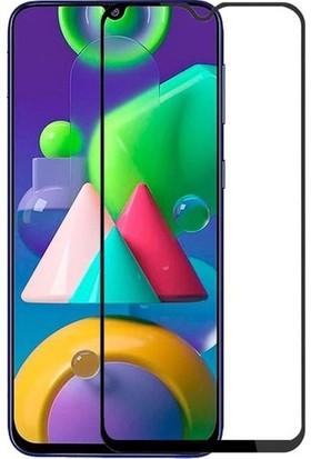 SKV Mobile Samsung Galaxy M21 Tam Ekran Koruyucu Kırılmaz Cam