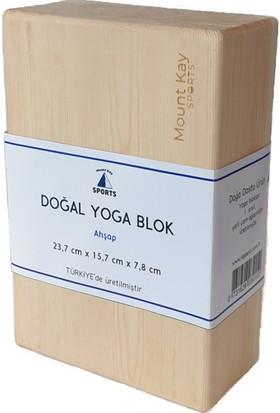 Mount Kay Sports Doğal Ahşap Yoga Blok