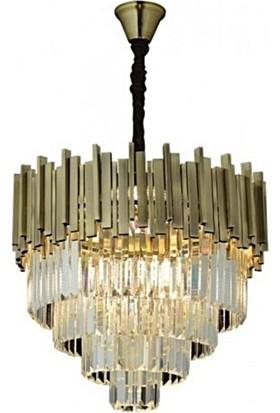 Burenze Luxury Modern Kristal Taşlı Sarkıt Avize Eskitme BURENZE718