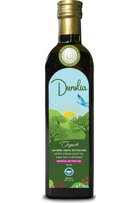 Dunolia Tarımda Kadın Dunolia Organik Natürel Sızma Memecik Zeytinyağı 750ML