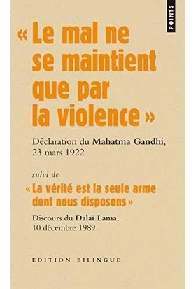 Le mal ne se maintient que par la violence - Gandhi