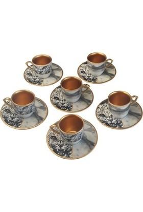 Biev Dark Tıger 6 Lı Kahve Takımı