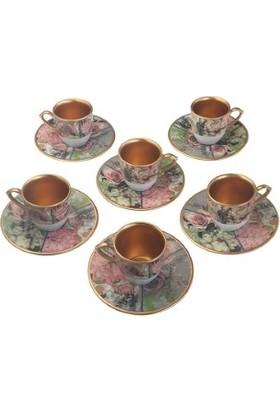 Biev Rose 6 Lı Kahve Takımı