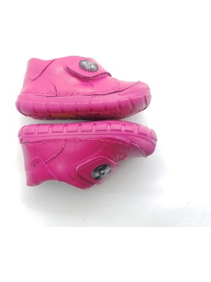 Arulens Anatomik Ortapedik %100 Doğal Fusya Rengi Kız Çocuk Ayakkabı