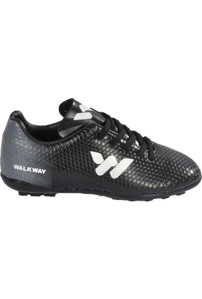Walkway 023 Siyah-Beyaz Çocuk Halı Saha Ayakkabı