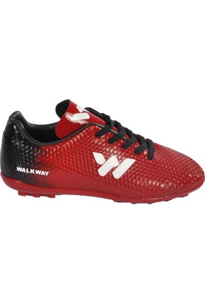 Walkway 023 Kırmızı-Beyaz Çocuk Halı Saha Ayakkabı