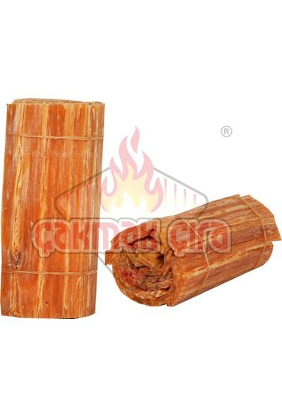 Çakmak Çıra - Doğal Çam Çırası Rulo 10'lu Paket - Mangal, Soba, Şömine, Barbekü Tutuşturucu