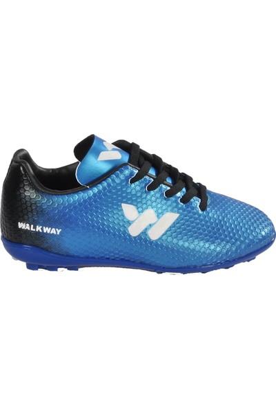 Walkway 023 G.halısaha Mavi-Beyaz Çocuk Halı Saha Ayakkabısı