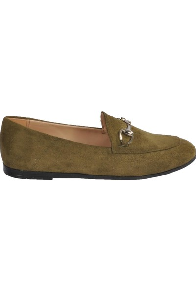 Park Fancy 155536 Haki Süet Kadın Günlük Ayakkabı