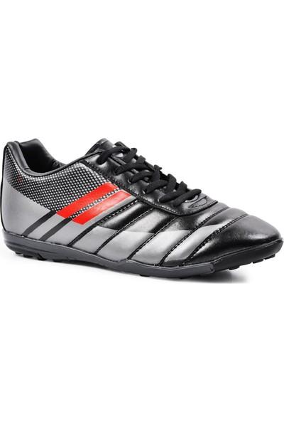 Walkway WLF2323 Siyah-Füme-Kırmızı Erkek Futsal Ayakkabı