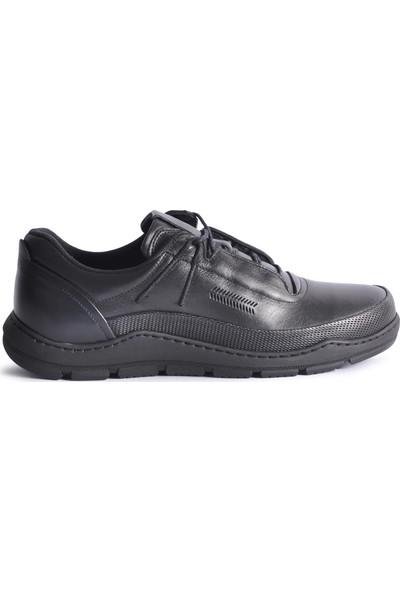 James Franco 5556 Siyah Hakiki Deri Erkek Casual Ayakkabı