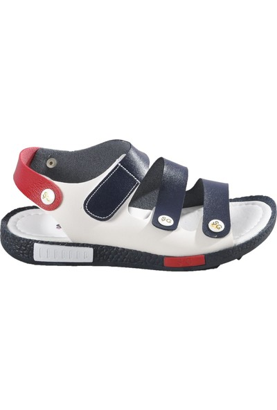 Şiringenç 005 Lacivert-Beyaz Çocuk Sandalet