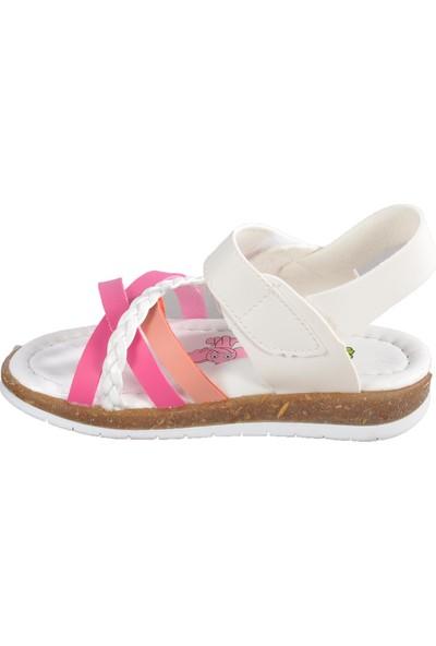 Şiringenç 001 Beyaz-Pembe Çocuk Sandalet