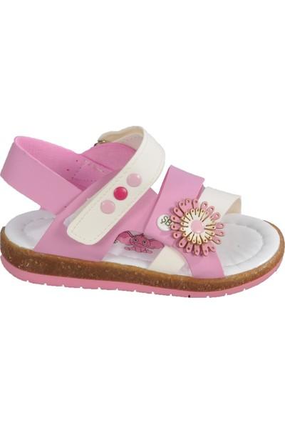 Şiringenç 013 Pembe-Beyaz Bebek Sandalet