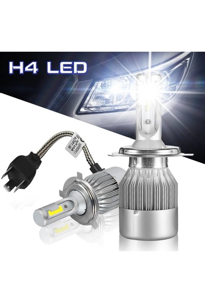 Ysl Blueoto H4 LED Zenon 10800 Lümen Beyaz Renk Şimşek Etkili Xenon