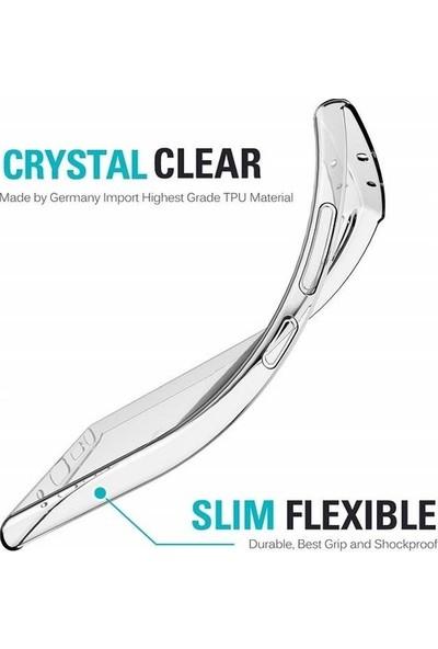 Fibaks Apple iPhone 12 Kılıf + Ekran Koruyucu A+ Şeffaf Lüx Süper Yumuşak 0.3mm Ince Slim Silikon