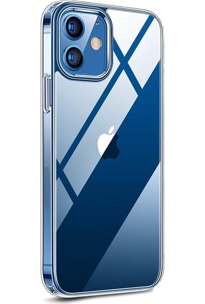Fibaks Apple iPhone 12 Mini Kılıf + Ekran Koruyucu A+ Şeffaf Lüx Süper Yumuşak 0.3mm Ince Slim Silikon