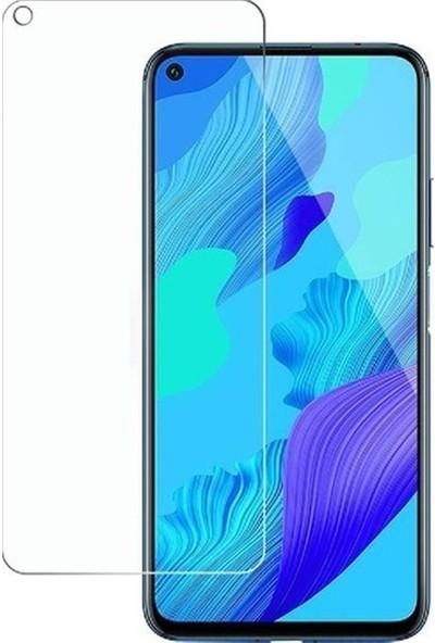 Fibaks Huawei P40 Lite E Kılıf + Ekran Koruyucu A+ Şeffaf Lüx Süper Yumuşak 0.3mm Ince Slim Silikon