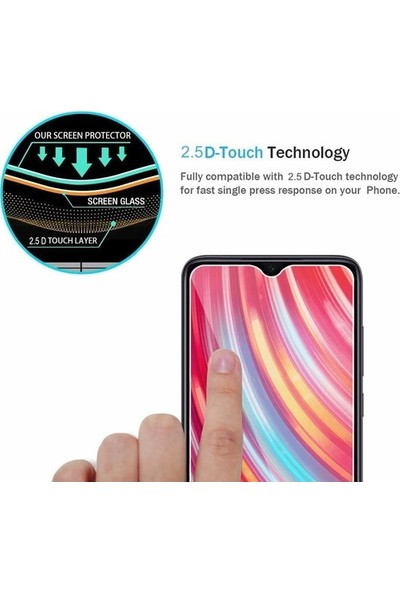 Fibaks Samsung Galaxy A71 Ekran Koruyucu 9H Temperli Cam Sert Şeffaf