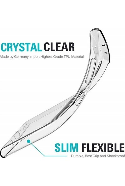 Fibaks Samsung Galaxy A9 2018 Kılıf + Ekran Koruyucu A+ Şeffaf Lüx Süper Yumuşak 0.3mm Ince Slim Silikon