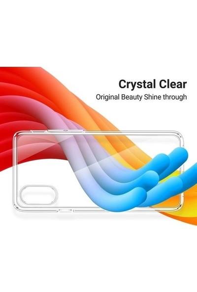 Fibaks Samsung Galaxy M21 Kılıf + Ekran Koruyucu A+ Şeffaf Lüx Süper Yumuşak 0.3mm Ince Slim Silikon