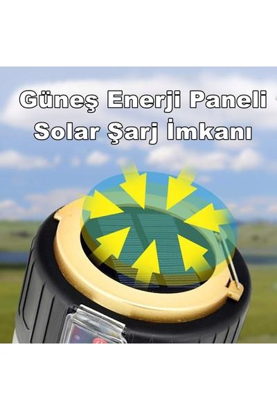 Yopigo 280W Kamp Çadır Lambası Solar Şarjlı Güneş Enerjili Ampül 26SMD LED Şarjlı El Feneri (Powerbank + 4 Farklı Mod)