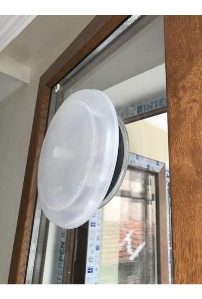 Menfezmatik Plastik Cam Menfezi Doğalgaz Menfezinden Gelen Soğuğu Önleyen Kapak