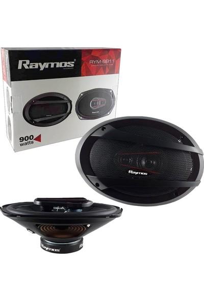 Raymos Oto Hoparlör Oval 6x9 900W 2 Adet Raymos RYM-6911