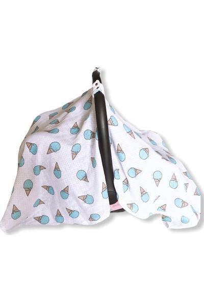 Minikom Baby Müslin Puset Örtüsü Taşıma Çantalı Bebek Anakucağı Örtüsü Dondurma