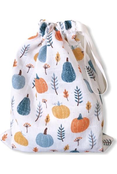 Minikom Baby Müslin Puset Örtüsü Çantalı Bebek Anakucağı Örtüsü Pumpkin