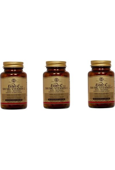 Solgar Ester-C 500 Mg Vitamin C 50 Kapsül 3'lü Paket
