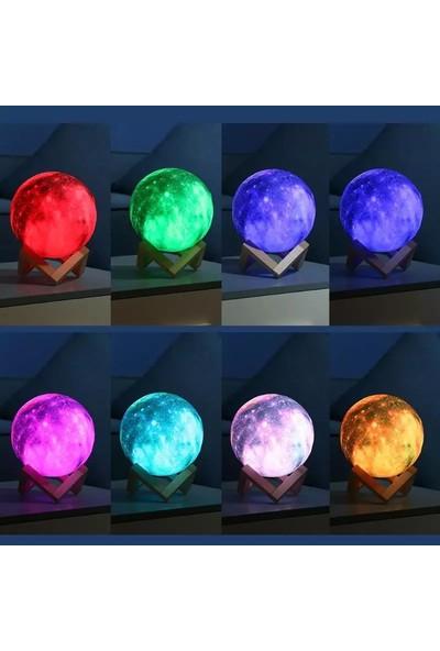 Orijinaldükkan 16 Renkli Galaxy Ay Gece Lambası Dokunmatik Uzaktan Kumandalı