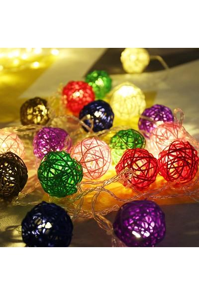 Orijinaldükkan 3 Metre LED Işıklı Rengarenk Bambu Toplar Animasyonlu Çocuk Odası Dekorasyonu