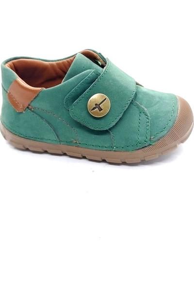 Arulens Anatomik Ortapedik %100 Doğal Nubuk Koyu Yeşil Renk Ünisex Çocuk Ayakkabı