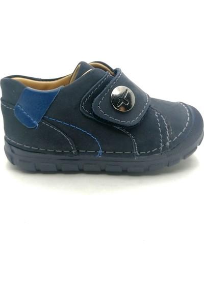 Arulens Anatomik Ortapedik %100 Doğal Nubuk Lacivert Renk Ünisex Çocuk Ayakkabı