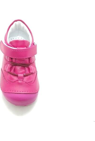 Arulens Anatomik Ortapedik %100 Doğal Fusya Renk Kız Çocuk Ayakkabı