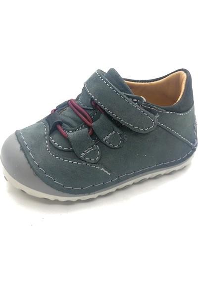 Arulens Anatomik Ortapedik %100 Doğal Koyu Yeşil Rengi Ünisex Çocuk Ayakkabı