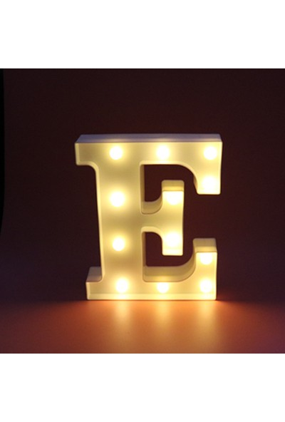 Orijinaldükkan Dekoratif LED Işıklı E Harfi