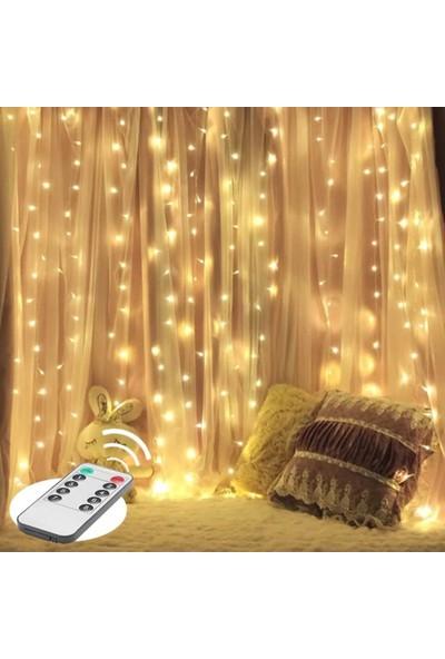 Orijinaldükkan 2x2 Metre Pilli Perde LED Işıklar Gün Işığı Kumandalı Animasyonlu