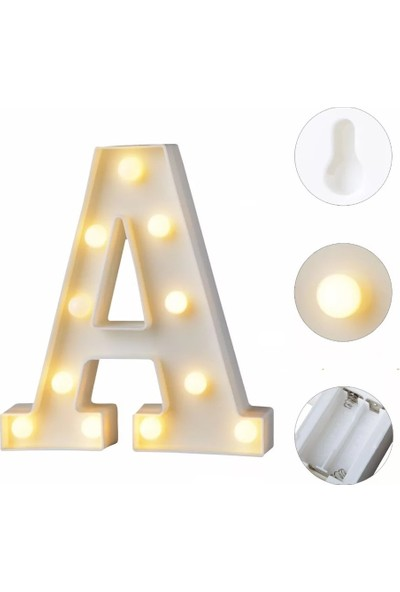 Orijinaldükkan Dekoratif LED Işıklı A Harfi