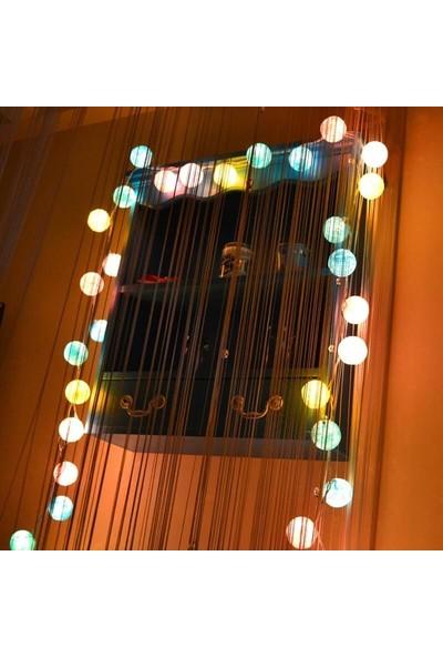 Orijinaldükkan LED Işıklı Rengarenk Ipli Toplar Çocuk Odası Animasyonlu Pilli Aydınlatma