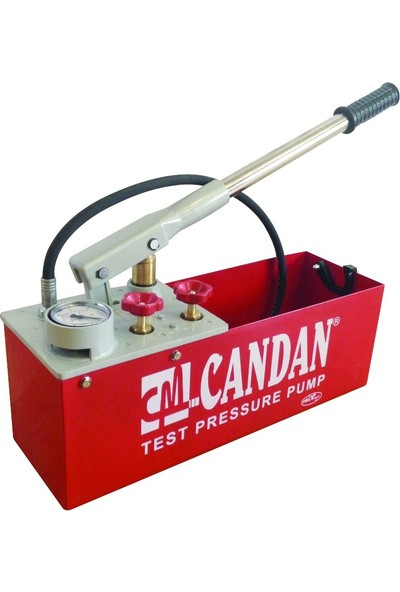 Candan Test Pompası Prinç Pistonlu Kırmızı