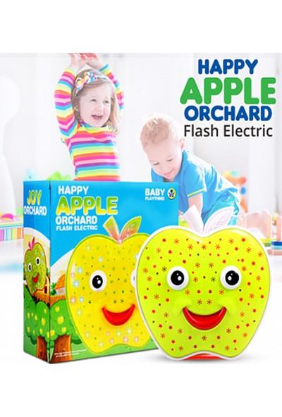 Müzikli - Projektörlü Oyuncak Çarp & Dön Özellikli Happy Apple