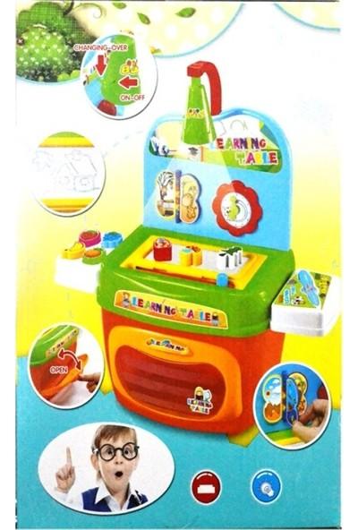 Fırınlı, Tahtalı, Işıklı Oyuncak Eğitici Mutfak Seti!