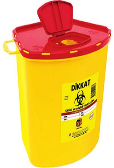 Telkar Tıbbi Enfekte Atık Kutusu 20 Adet x 5,6 lt