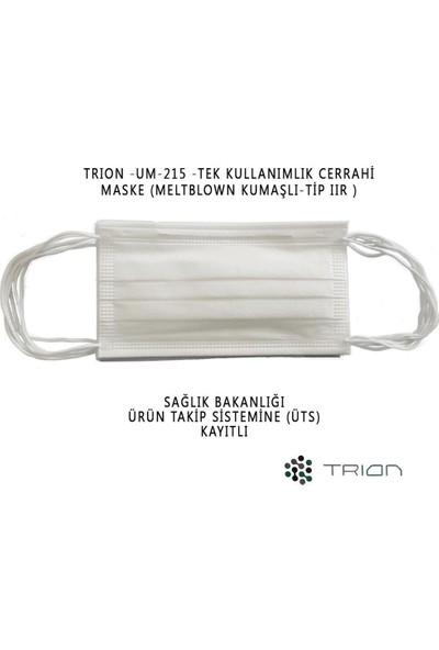 Ultrasonik Cerrahi Maske Burun Telli 3 Katlı TIP2R 10 Kutu 500 Adet UM-215 Meltbown + Supunbond Kumaşlı