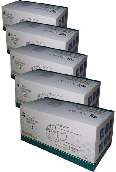 Full Ultrasonik Meltbown Cerrahi Maske Burun Telli 3 Katlı TIP2R 5 Kutu 250 Adet UM-215
