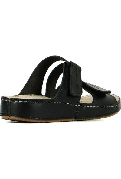 Hammer Jack Roster Deri Siyah Kadın Terlik / Sandalet 420 702.023-Z