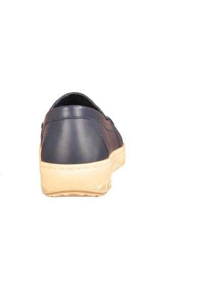Voyager 7470 Hakiki Deri Lacivert Kadın Günlük Ayakkabı