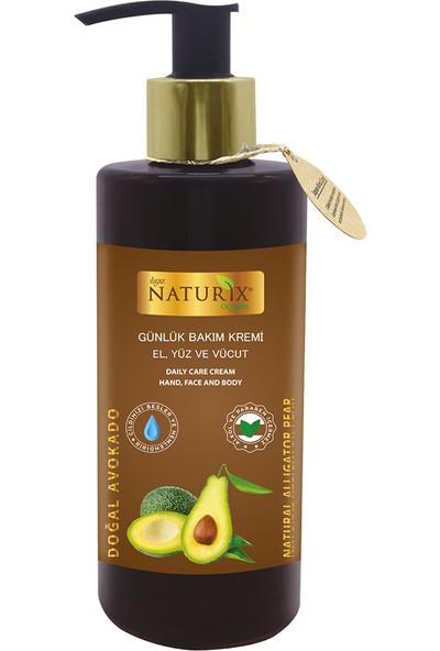 Naturix Avakado Yağı Günlük Bakım Kremi 250 ml El, Yüz Vücut Kremi + 750 ml Bergamot & Yasemin Duş Jeli